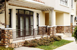 Modern villa doorway. stock photography