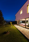 Modern villa with garden Stock Photography