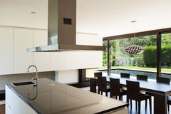 Modern villa, interior Royalty Free Stock Images