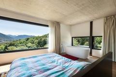 Modern villa, interior, bedroom Stock Image
