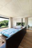 Modern villa, interior, bedroom Royalty Free Stock Photo