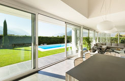 Modern villa, interior Royalty Free Stock Photo