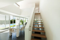 Modern villa, interior Stock Image