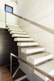 Modern villa, interior, stairs Royalty Free Stock Photo