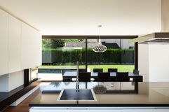 Modern villa, interior Royalty Free Stock Photos