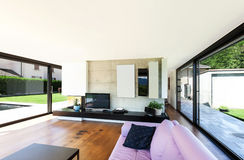 Modern villa, interior Royalty Free Stock Photography