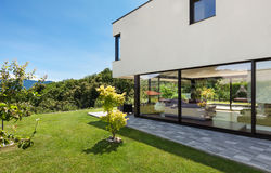 Modern villa, outdoor Stock Photos