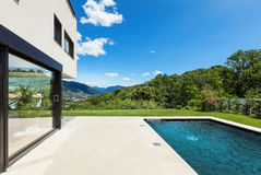 Modern villa , outdoor Royalty Free Stock Image
