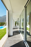Modern villa, porch Royalty Free Stock Image