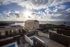 Modern villa with swimming pool Stock Image