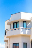 Modern Villa. Typical Portuguese modern villa cornered facade Royalty Free Stock Photo