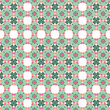 Modern village seamless pattern, green ornament. Vector seamless pattern. Use for wallpaper,  web page background Stock Images