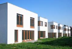 Modern villas. Just finished modern villa, Czech republic Royalty Free Stock Photo