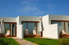 Modern villas of luxury hotel. Crete, Greece Stock Images