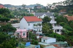 Modern villas rising in Dalat, Vietnam.  Royalty Free Stock Photos