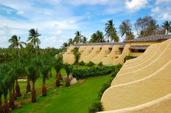 Modern villas with swimming pools at luxury hotel. Phuket, Thailand Royalty Free Stock Photos