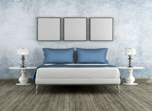 Modern and vintage bedroom Stock Photo
