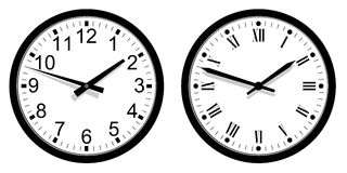Modern and Vintage Clock Royalty Free Stock Images