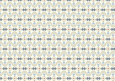Modern Vintage Curve Cup and Circle Pattern on Pastel Background Royalty Free Stock Images
