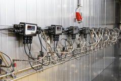 Modern vinteknologi, vin som kyler apparaten fotografering för bildbyråer