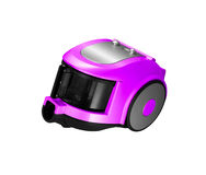Modern violet vacuum cleaner isolated Royalty Free Stock Photography