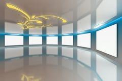 Modern virtual Gallery blue-brown Royalty Free Stock Photo
