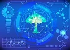 Modern virtual technology background vector illustration Stock Photo