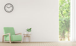 Modern vit vardagsrum med pastellfärgad tolkningbild för möblemang 3d Fotografering för Bildbyråer