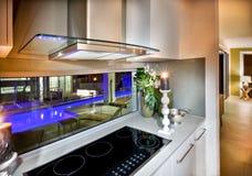 Free Modern Vitroceramic Stove In The Kitchen At Night Royalty Free Stock Photos - 67216688
