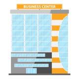 Modern Vlak Commercieel Bureau Commercieel centrum, commercieel centrumpictogram, de bouw royalty-vrije illustratie