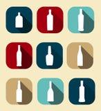 Modern Vlak Dink Icon Set voor Web en Mobiel Stock Afbeelding