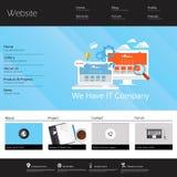 Modern Vlak Websitemalplaatje EPS 10 Vectorillustratie Stock Afbeeldingen