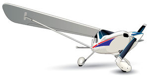Modern Vliegtuig Stock Afbeelding