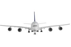 Modern vliegtuig op wit. stock afbeeldingen