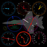 Modern vliegtuigdashboard Stock Afbeelding