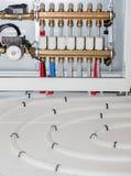 Modern vloer verwarmingssysteem Stock Afbeeldingen