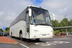 Modern Volvo Coach Bus Waiting for Passengers Royalty Free Stock Photos