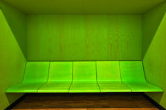 Modern waiting room interior with empty seats Stock Images