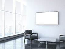 Modern waiting room at office. 3d rendering Stock Image