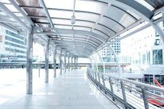 Modern walkway Arkivfoton