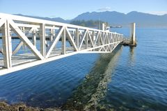 Modern Walkway for Dock Stock Images