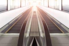 Modern walkway of escalator Royalty Free Stock Photo