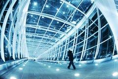 Modern walkway interior royalty free stock image