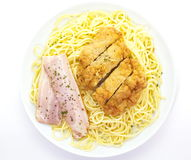 Spaghetti carbonara, Royalty Free Stock Photography