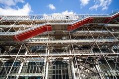 Modern wall of Centre Pompidou Stock Photo