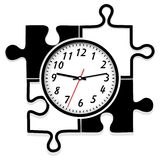 Modern wall clock. The clock look like a puzzle Royalty Free Stock Photos