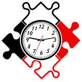 Modern wall clock. The clock look like a puzzle Royalty Free Stock Images