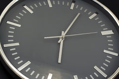 Modern wall clock close-up Stock Photo