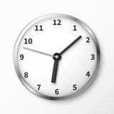 Modern wall clock face vector illustration Royalty Free Stock Image