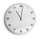 Modern wall clock isolated on white Royalty Free Stock Photography